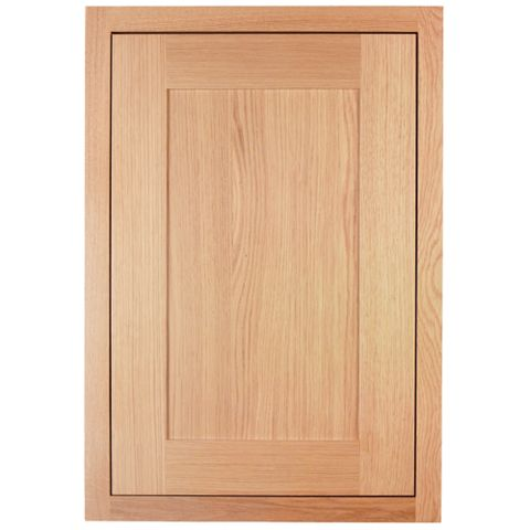 Cooke & Lewis Carisbrooke Oak Framed Standard Door (W)500mm