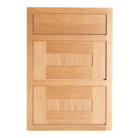 Cooke & Lewis Carisbrooke Oak Framed Drawer Front (W)500mm, Set of 3