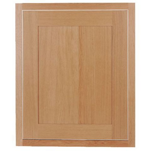 Cooke & Lewis Carisbrooke Oak Framed Standard Door (W)600mm