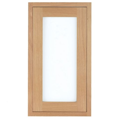 Cooke & Lewis Carisbrooke Oak Framed Tall Glazed Door (W)500mm