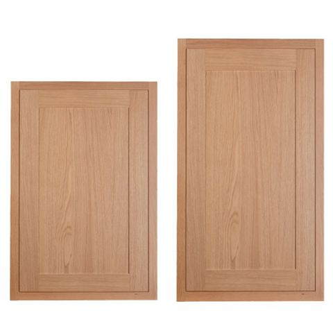 Cooke & Lewis Carisbrooke Oak Framed Tall Larder Door (W)600mm, Set of 2
