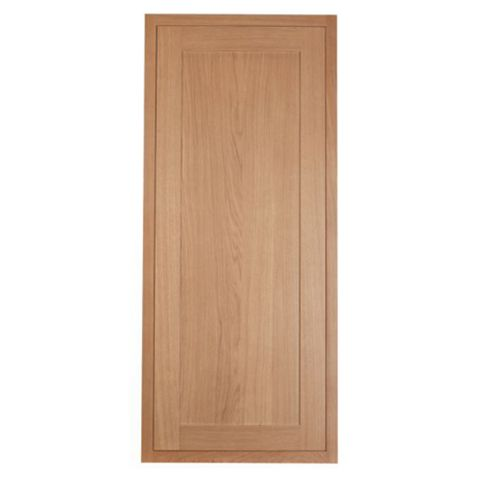 Cooke & Lewis Carisbrooke Oak Framed Tall Fridge Freezer Door (W)600mm
