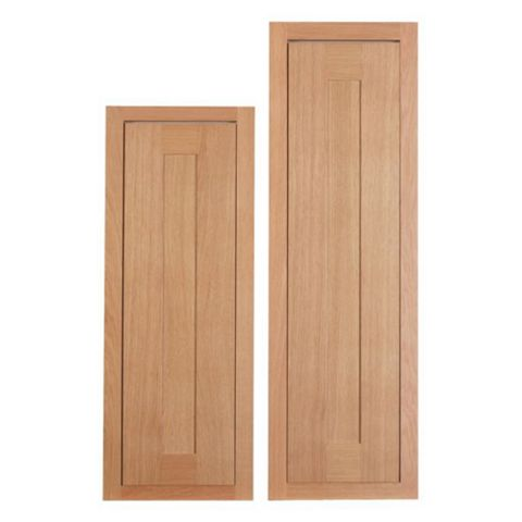 Cooke & Lewis Carisbrooke Oak Framed Tall Larder Door (W)300mm, Set of 2