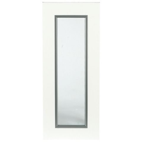 IT Kitchens Santini Gloss White Slab Glazed Door (W)300mm