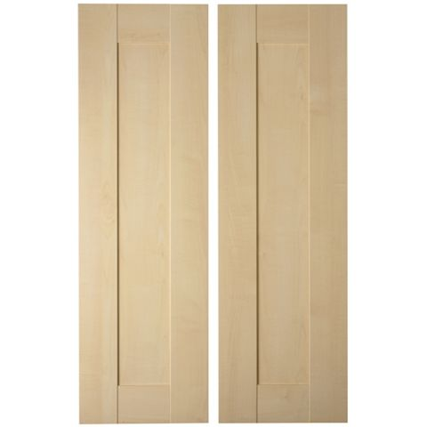 IT Kitchens Westleigh Contemporary Maple Effect Shaker Larder Door (W)300mm, Set of 2