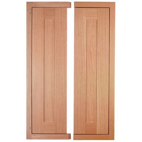 Cooke & Lewis Carisbrooke Oak Framed Corner Wall Door (W)625mm, Set of 2
