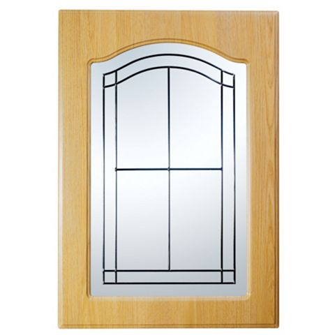 IT Kitchens Chilton Traditional Oak Effect Glazed Door (W)500mm