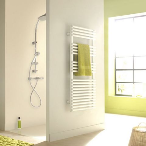 Acova Cala Towel Warmer White (H)1761 (W)500mm