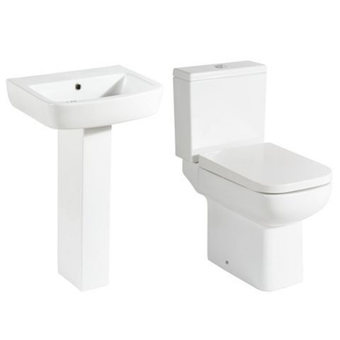 Cooke & Lewis Fabienne Close-Coupled Toilet & Full Pedestal Basin