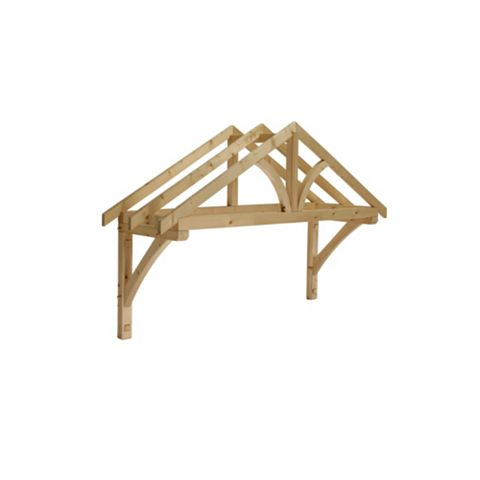 Cheshire Mouldings Pine Apex Porch Canopy 1350 x 1960 x 605 mm
