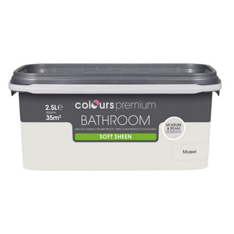 Colours Bathroom Mussel Soft Sheen Emulsion Paint 2.5L