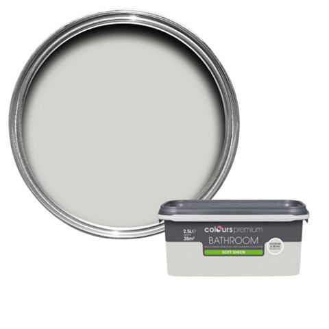 Colours Bathroom Grey Hints Soft Sheen Emulsion Paint 2.5L