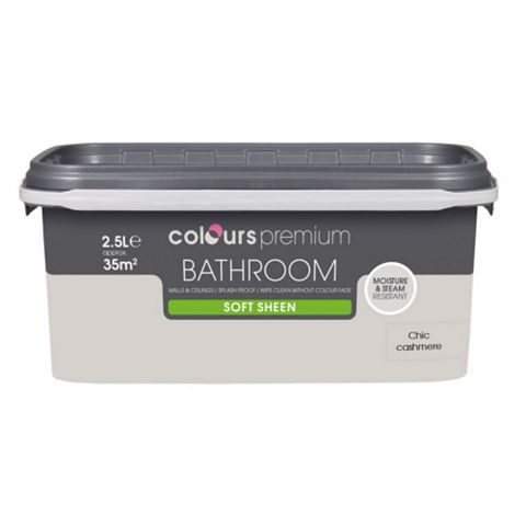 Colours Bathroom Chic Cashmere Soft Sheen Emulsion Paint 2.5L