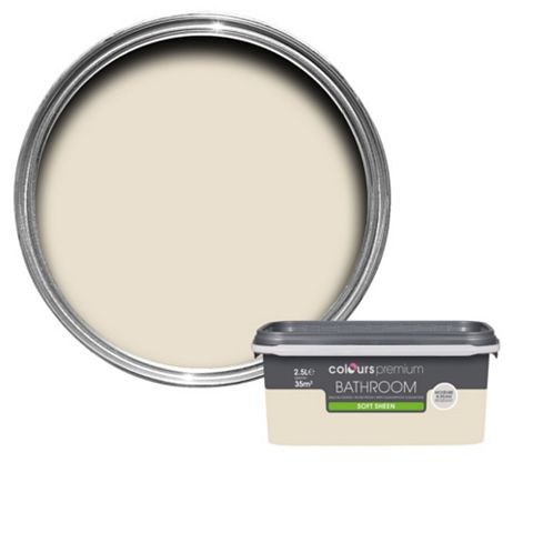 Colours Bathroom Ivory Soft Sheen Emulsion Paint 2.5L