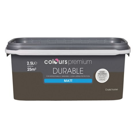 Colours Durable Dark Horse Matt Emulsion Paint 2.5L