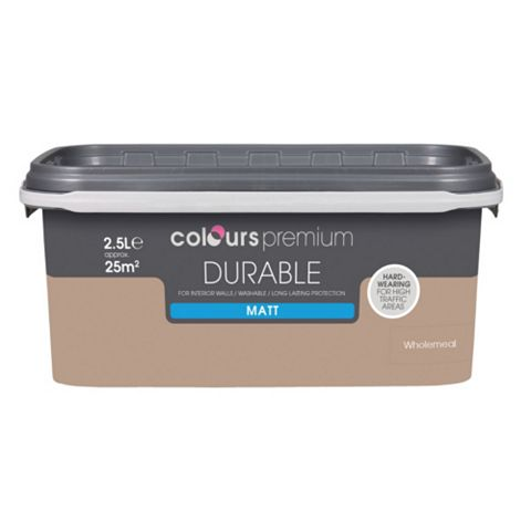 Colours Durable Wholemeal Matt Emulsion Paint 2.5L