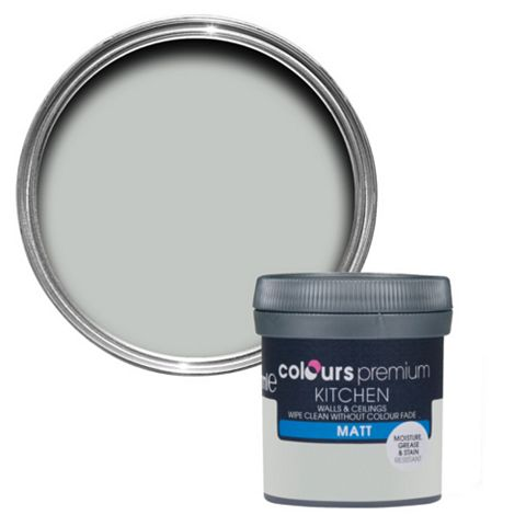Colours Kitchen Light Rain Matt Emulsion Paint 50ml Tester Pot