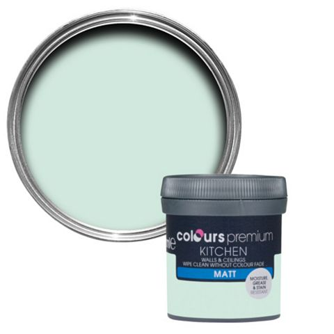 Colours Kitchen Duck Egg Matt Emulsion Paint 50ml Tester Pot