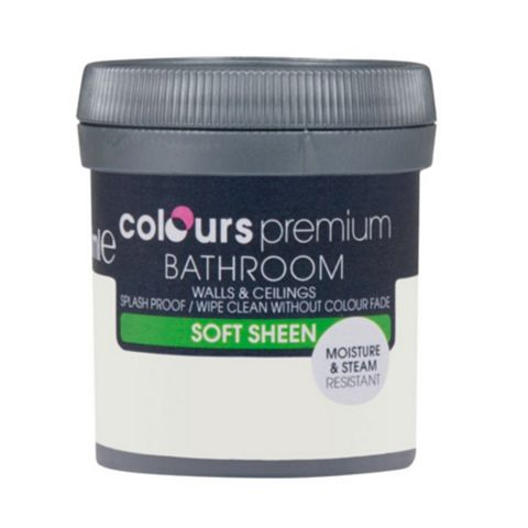 Colours Bathroom Mussel Soft Sheen Emulsion Paint 50ml Tester Pot