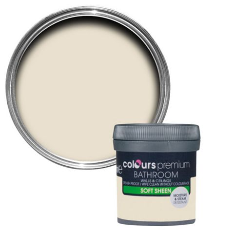Colours Bathroom Ivory Soft Sheen Emulsion Paint 0.05L Tester Pot