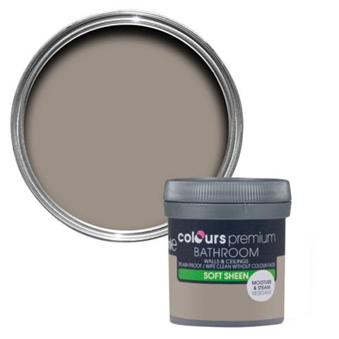 Colours Bathroom Taupe Soft Sheen Emulsion Paint 50ml Tester Pot