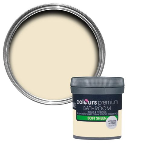 Colours Bathroom Magnolia Soft Sheen Emulsion Paint 50ml Tester Pot