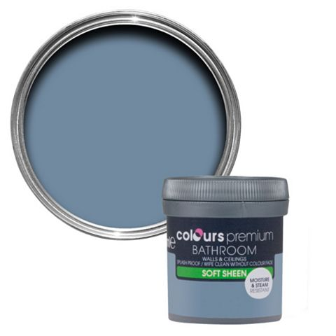 Colours Bathroom Blue Thistle Soft Sheen Emulsion Paint 50ml Tester Pot