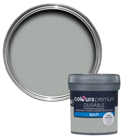 Colours Durable Platinum Matt Emulsion Paint 50ml Tester Pot