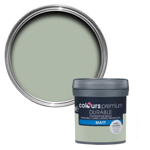 Colours Durable Cut Grass Matt Emulsion Paint 50ml Tester Pot