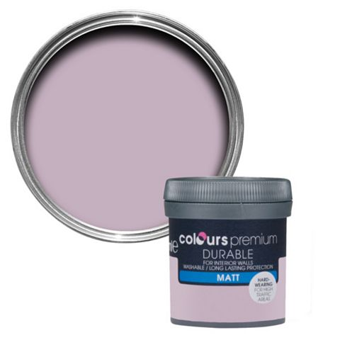 Colours Durable Orchid Matt Emulsion Paint 50ml Tester Pot