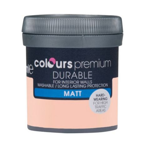 Colours Durable Pink Sands Matt Emulsion Paint 50ml Tester Pot