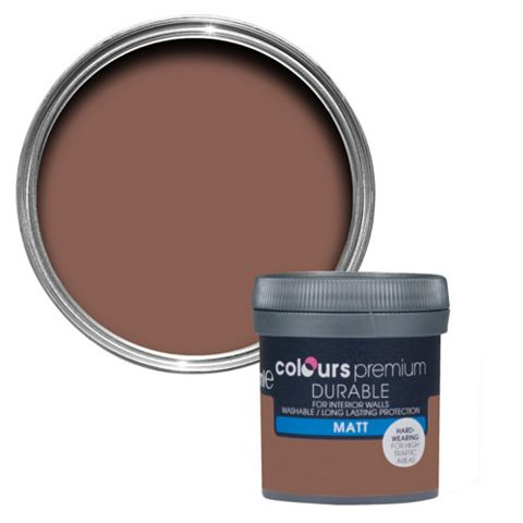 Colours Durable Fired Brick Matt Emulsion Paint 50ml Tester Pot