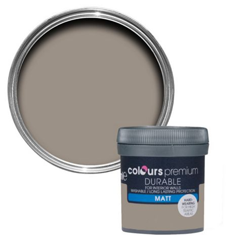 Colours Durable Taupe Matt Emulsion Paint 50ml Tester Pot