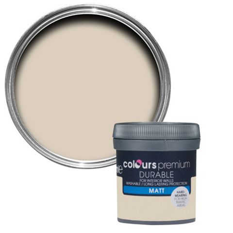 Colours Durable Soft Coffee Matt Emulsion Paint 50ml Tester Pot
