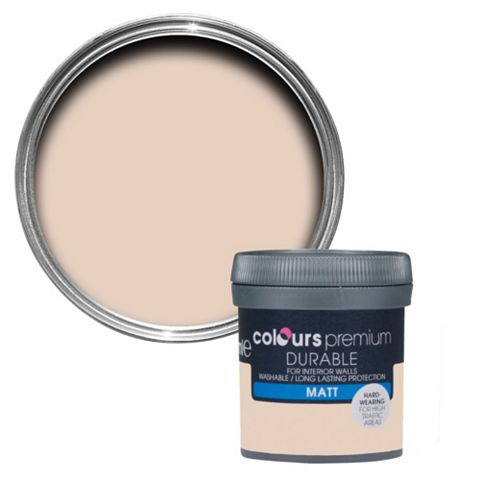 Colours Durable Rose Vanilla Matt Emulsion Paint 50ml Tester Pot