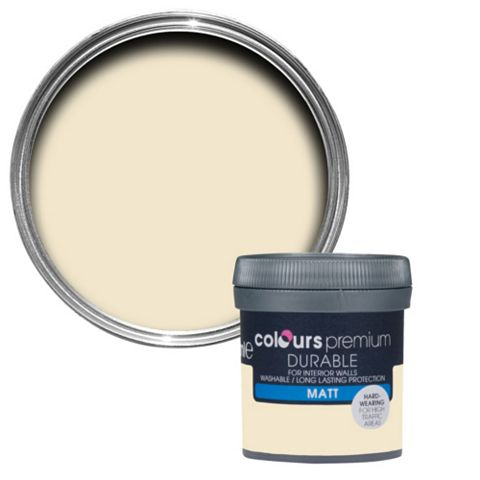 Colours Durable Magnolia Matt Emulsion Paint 50ml Tester Pot