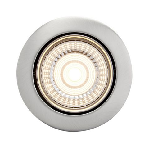 Diall Brushed Chrome Downlight 7 W