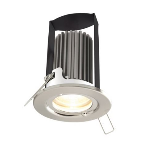 Diall Fire Rated Brushed Nickel Effect Downlight 5.2 W