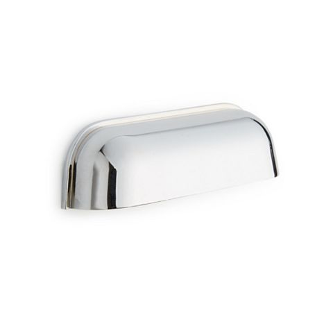 Chrome Effect Curved Cup Handle Medium, Pack of 2