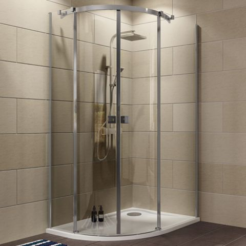 Cooke & Lewis Luxuriant Offset Quadrant Shower Enclosure with Double Sliding Doors (W)1200mm (D)900mm