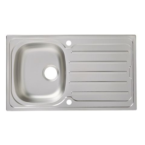 Cooke & Lewis Nakaya 1 Bowl Stainless Steel Sink & Drainer