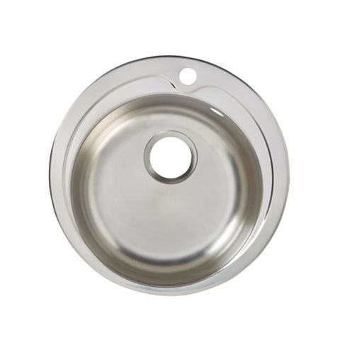 Quimby 1 Bowl Stainless Steel Round Sink