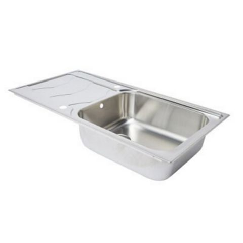 Cooke & Lewis Buckland 1 Bowl Stainless Steel Sink & Drainer