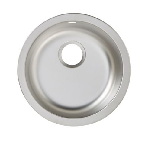 Cooke & Lewis Hurston 1 Bowl Stainless Steel Round Sink