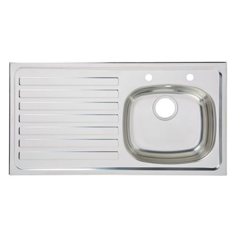 Utility 1 Bowl Stainless Steel Sink & LH Drainer