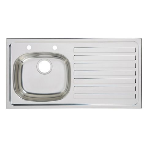 Utility 1 Bowl Stainless Steel Sink & RH Drainer