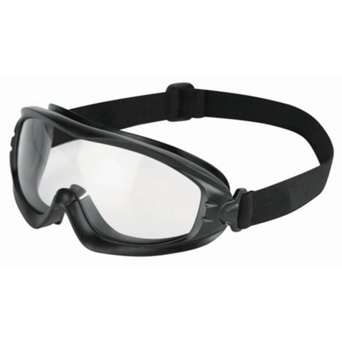 JSP Black Slimline Safety Goggles