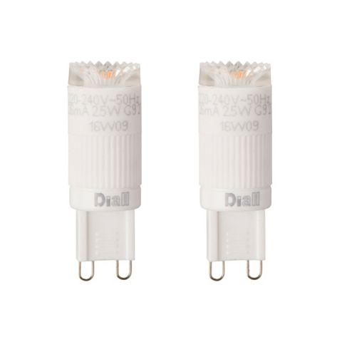 Diall G9 2.5W LED Capsule Light Bulb, Pack of 2