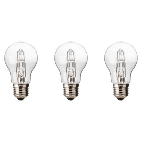 Diall Edison Screw Cap (E27) 57W Halogen Classic Light Bulb, Pack of 3