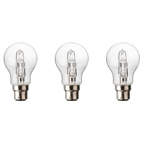 Diall Bayonet Cap (B22) 46W Halogen Classic Light Bulb, Pack of 3